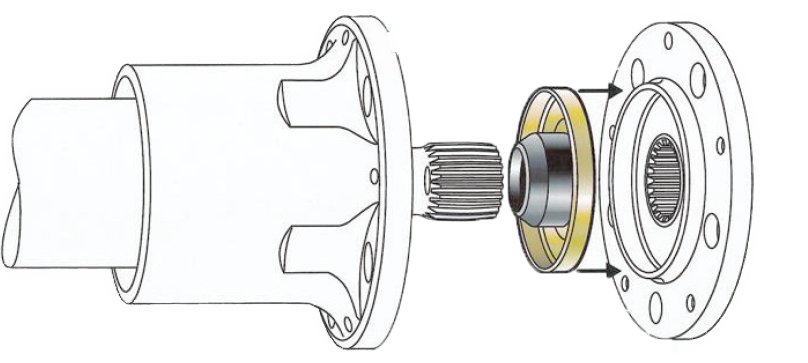 Drive plate seal illustration